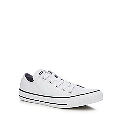Converse - White glitter canvas 'Chuck Taylor All Star' trainers