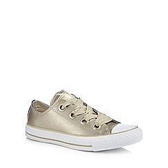 Converse - Gold leather  Big Eyelets  trainers e7262b191