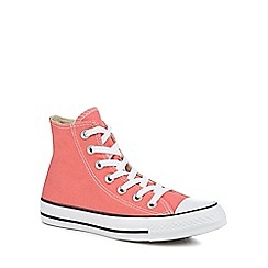 Converse - Coral canvas 'Chuck Taylor All Star' hi-top trainers