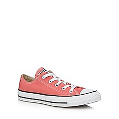 Converse - Coral canvas 'Chuck Taylor All Star' trainers
