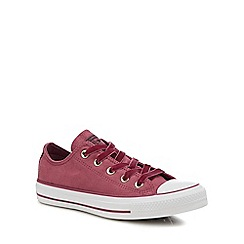 Converse - Wine Red Velvet 'Chuck Taylor All Star Ox' Trainers