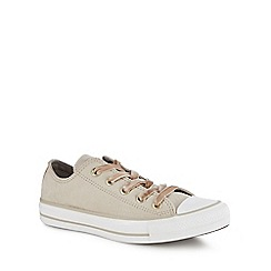 Converse - Taupe velvet 'Chuck Taylor All Star' trainers