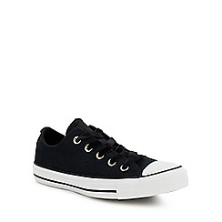 Converse - Black velvet 'Chuck Taylor All Star Ox' trainers