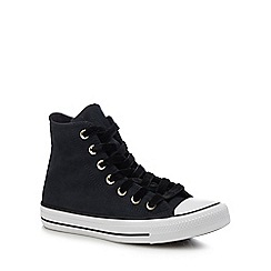 Converse - Black velvet 'Chuck Taylor All Star' hi-top trainers