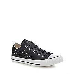Converse - Black leather 'Chuck Taylor All Star' studded trainers
