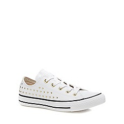 Converse - White leather 'Chuck Taylor All Star' studded trainers