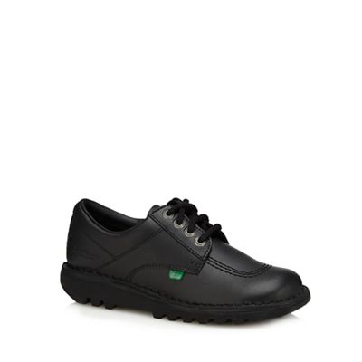 Kickers - Black leather 'Classic' shoes