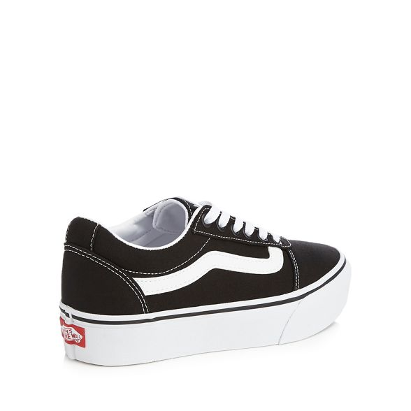 Black canvas Vans 'Ward' trainers platform 6UqnT8O