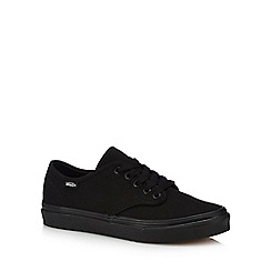 Vans - Black canvas 'Camden Stripe' trainers