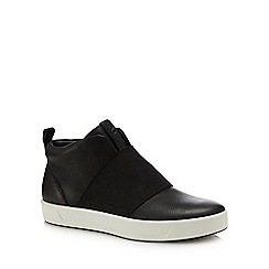 ECCO - Black leather 'Soft 8' slip-on high top trainers