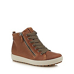 ECCO - Tan nubuck 'Soft 7' high top trainers