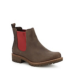 ECCO - Taupe nubuck 'Elaine' Chelsea boots