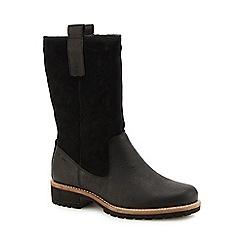 ECCO - Black suede 'Elaine' calf boots