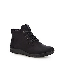 ECCO - Black nubuck 'Babett' boots