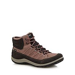 ECCO - Taupe 'Aspina' walking boots