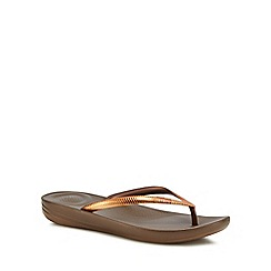 FitFlop - Bronze 'Mirror' IQushion flip flops