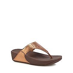 FitFlop - Bronze 'Lulu' Flatform Heel Flip Flops