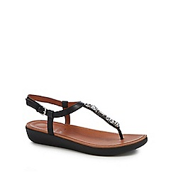 FitFlop - Black 'Tia Bejewelled' sandals