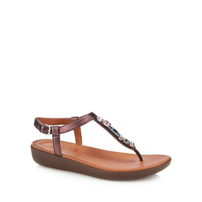 FITFLOP - Wine red 'Tia Bejewelled' sandal