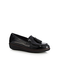 FitFlop - Black patent 'Paige' loafers