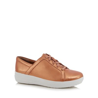 FitFlop - Bronze sporty lace up sneakers