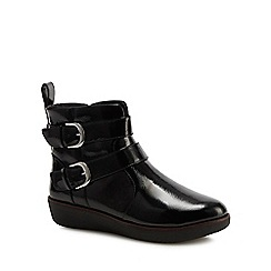 FitFlop - Black patent 'Laila' ankle boots
