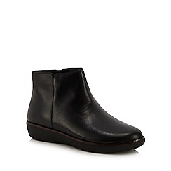 FitFlop - Black leather 'Ziggy' ankle boots