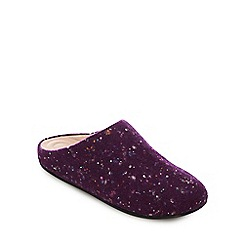 c2bd6bf34 FitFlop - Dark Purple  Chrissie Speckle  Mule Slippers