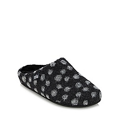 FitFlop - Dark grey 'Chrissie Dots' mule slippers