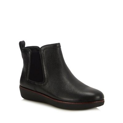 8473574b4 FitFlop Black Leather  Chai  Chelsea Boots