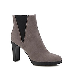 Geox - Taupe suede 'Annya' block heel ankle boots