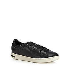 Geox - Black leather 'Jaysen' trainers