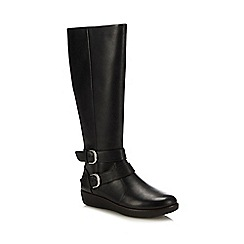 FitFlop - Black Leather 'Noemi' Knee High Boots