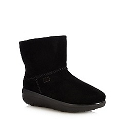 FitFlop - Black Suede 'Mukluk Shorty II' Ankle Boots