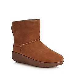 FitFlop - Brown Suede 'Mukluk Shorty II' Ankle Boots