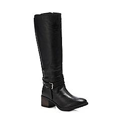 0067b1411661 Lotus - Black leather  Janessa  mid block heel knee high boots
