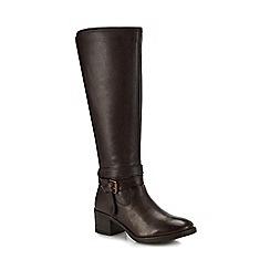 0b91c005c1c Lotus - Brown leather  Janessa  mid block heel knee high boots