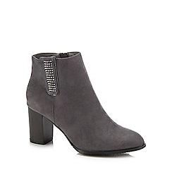 Lotus - Grey 'Jenolan' high block heel ankle boots