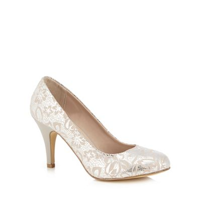 Lotus   Metallic Silver 'clancy' High Stiletto Heel Court Shoes by Lotus