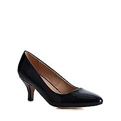 Lotus - Navy patent 'Clio' mid stiletto heel pumps