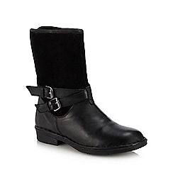 Lotus - Black 'Gallatin' block heel ankle boots