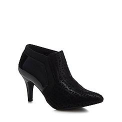 Lotus - Black 'Bassi' high stiletto heel shoe boots