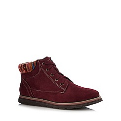 Lotus - Wine red 'Sequoia' ankle boots