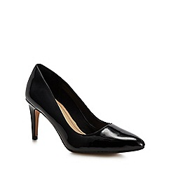 Clarks - Black patent leather 'Laina Rae' high stiletto heel court shoes
