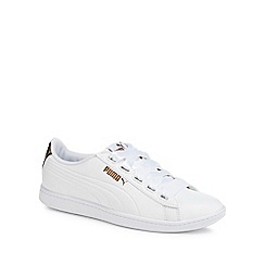 Puma - White 'Vikky Ribbon' trainers