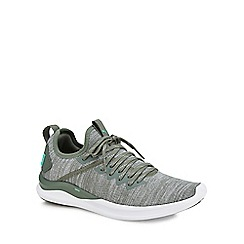 Puma - Khaki knit 'Ignite Flash' trainers
