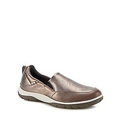 Strive - Metallic leather 'Florida' slip-on shoes