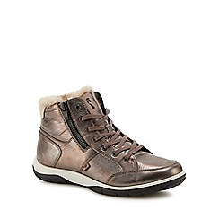 Strive - Metallic leather 'Chatsworth' ankle boots