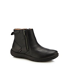 Strive - Black leather 'Bamford' ankle boots