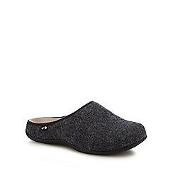 Strive - Dark grey 'Copenhagen' orthotic mule slippers